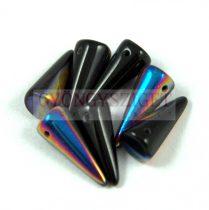Cseh préselt tüske gyöngy - fekete sliperit -7x17mm