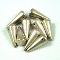 Cseh préselt tüske gyöngy - antik ezüst -7x17mm