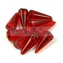Cseh préselt tüske gyöngy - rubin -7x17mm