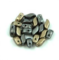 StormDuo - cseh préselt kétlyukú gyöngy – Matt Metallic Grey Iris - 3x7mm