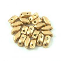StormDuo - cseh préselt kétlyukú gyöngy – Aztec Gold - 3x7mm