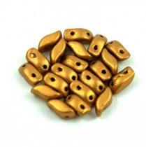 StormDuo - cseh préselt kétlyukú gyöngy – Brass Gold - 3x7mm