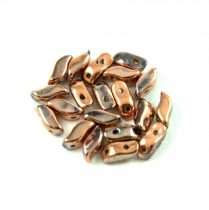 StormDuo - cseh préselt kétlyukú gyöngy - Crystal Full Capri Gold - 3x7mm