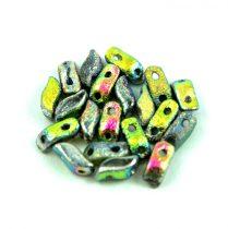 StormDuo - cseh préselt kétlyukú gyöngy - Crystal Etched Full Vitrail - 3x7mm