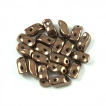 StormDuo - cseh préselt kétlyukú gyöngy - Bronze - 3x7mm