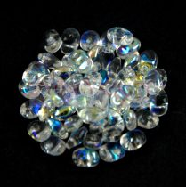 SuperUno gyöngy 2.5x5mm - kristály ab