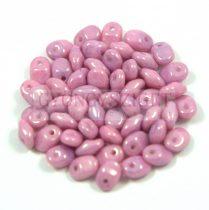 SuperUno gyöngy 2.5x5mm - krétafehér lila lüszter