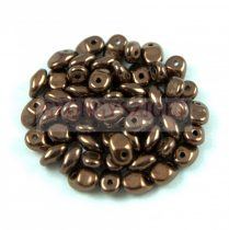 SuperUno gyöngy 2.5x5mm - jet bronze
