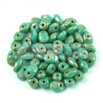 SuperUno gyöngy 2.5x5mm - jade picasso