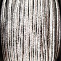 Olasz sujtás zsinór - 3mm - Metallic Stainless Steel