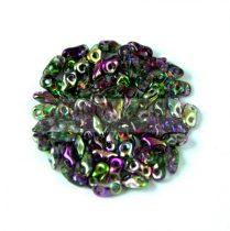 Super8® cseh kétlyukú gyöngy - 2.2x4.7mm - Crystal Magic Orchid