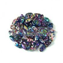 Super8® cseh kétlyukú gyöngy - 2.2x4.7mm - Crystal Magic Blue