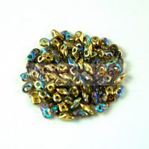 Super8® cseh kétlyukú gyöngy - 2.2x4.7mm - Crystal Golden Rainbow
