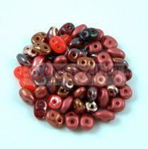 Czech Superduo bead mix - Red - 10g