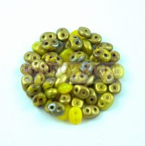 Cseh Superduo gyöngy mix - Golden Yellow - 10g