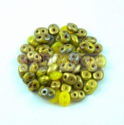 Cseh Superduo gyöngy mix - Golden Yellow - 10g