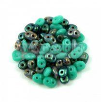 Cseh Superduo gyöngy mix - Turquoise Green - 10g