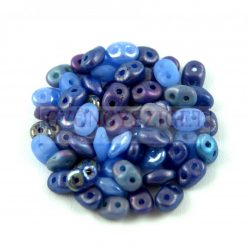 Cseh Superduo gyöngy mix - Sapphire - 10g