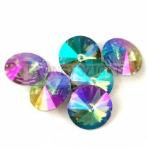 Swarovski rivoli 14mm - Light Turquoise Purple Haze