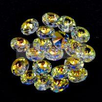 Swarovski medál - 6428 - crystal ab - 8mm
