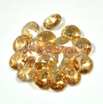 Swarovski medál - 6428 - crystal golden shadow - 8mm