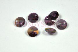 Swarovski medál - 6428 - crystal lilac shadow - 8mm