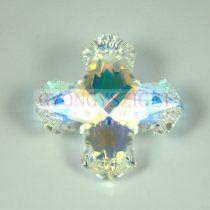 Swarovski Greek Cross Pendant - 6867 - crystal ab - 28mm