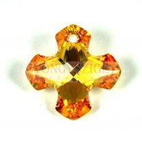 Swarovski Greek Cross Pendant - 6867 - crystal metallic sunshine - 14mm