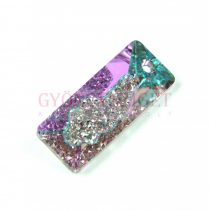 Swarovski Pendant - Growing Crystal Rectangle - Crystal Vitrail Light - 26mm