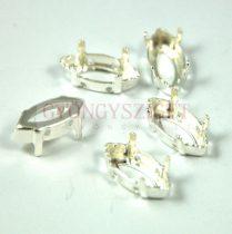 Foglalat - navette - ezüst színű - fűzhető - 15x7mm