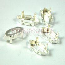 Finding - navette - silver coloured - beadable - 15x7mm