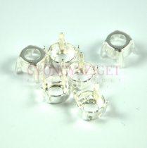 Chaton foglalat - világos ezüst - 6mm