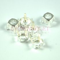 Chaton Finding - light silver -6mm