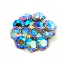 Swarovski chaton - 8mm -  Black Diamond Shimmer - 1088