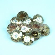 Swarovski chaton - 8mm -  Light Colorado Topaz Gold Patina -  - 1088