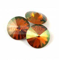 Swarovski rivoli 14mm - crystal copper