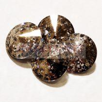 Swarovski rivoli 14mm - gold patina