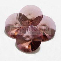 Swarovski rivoli 14mm - Light Colorado Topaz Antique Pink (fóliázatlan)