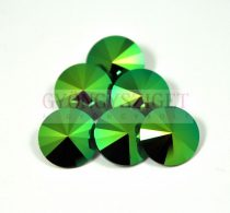 Swarovski rivoli 14mm - crystal scarabeus green