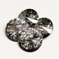 Swarovski rivoli 14mm - Crystal Silver Patina