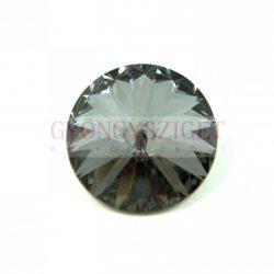 Swarovski rivoli 18mm - crystal silver night