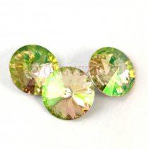 Swarovski rivoli 14mm - crystal luminous green