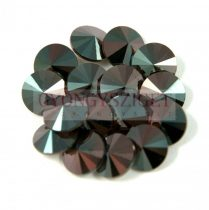 Swarovski rivoli 8mm - blue zircon red magma