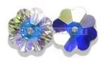 Swarovski középen fúrt virág8mm - crystal ab