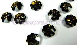 Swarovski középen fúrt virág 10mm - crystal tabac