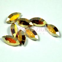 Swarovski XILION Navette 15x7mm - crystal metallic sunshine