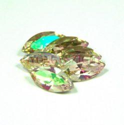Swarovski XILION Navette 15x7mm - crystal luminous green
