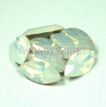 Swarovski XILION Navette 15x7mm - white opal
