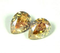 Swarovski pear- crystal golden shadow -14x10mm