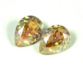 Swarovski pear- crystal golden shadow -14x10mm